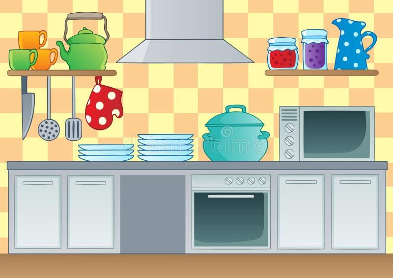 Imagem 1 do tema da cozinha ilustração stock