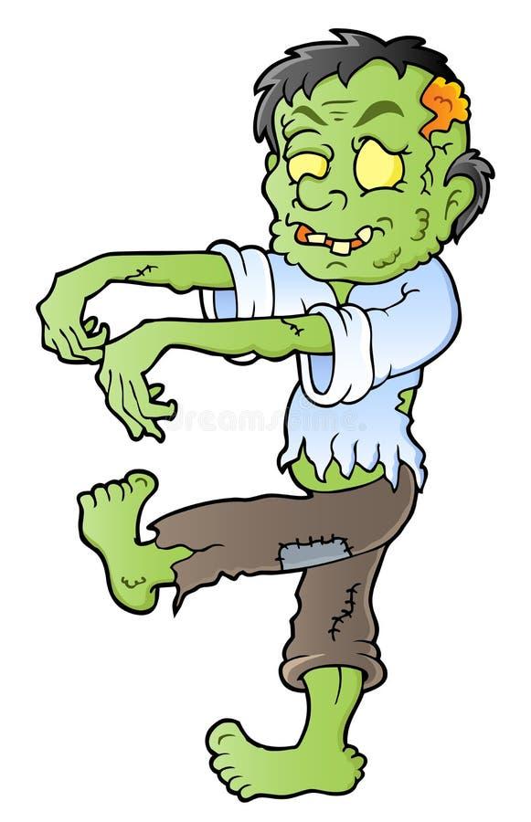 Imagem 1 do tema do zombi dos desenhos animados ilustração royalty free