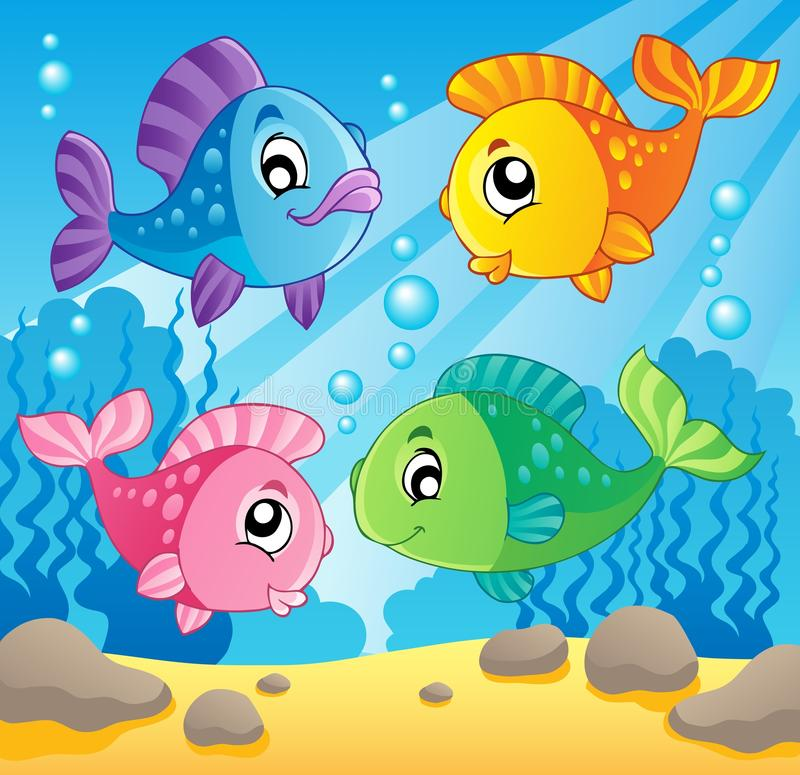 Imagem 1 do tema dos peixes ilustração royalty free