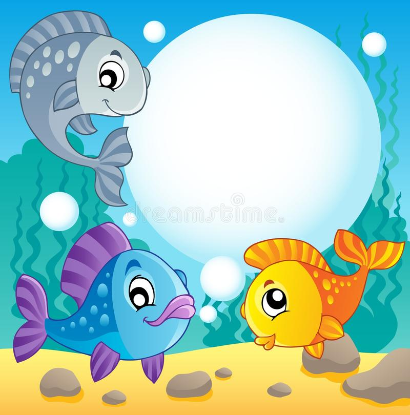 Imagem 2 do tema dos peixes ilustração royalty free
