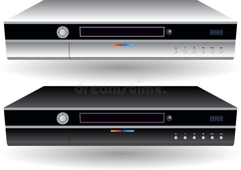 imagem 3D de 2 DVRs ilustração stock