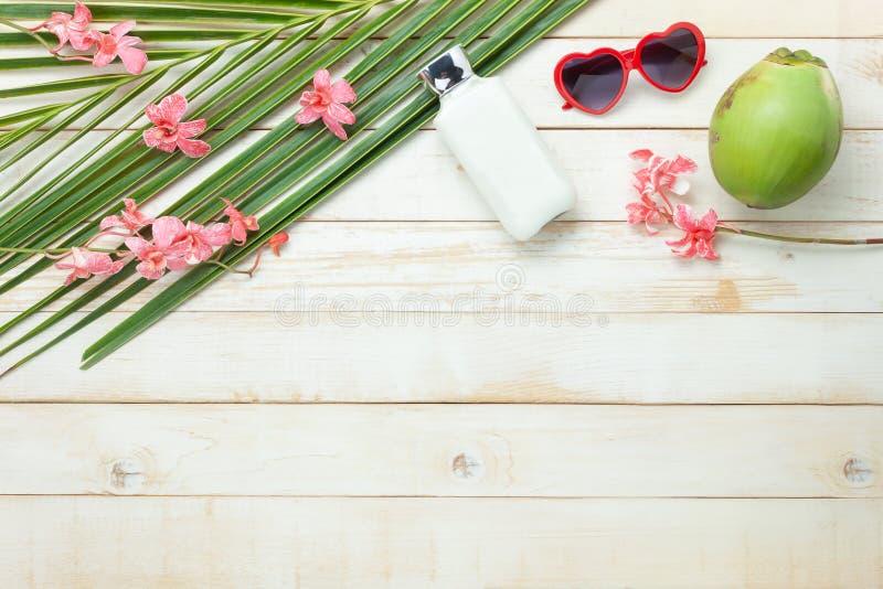 Imagem aérea da opinião de tampo da mesa do feriado do verão & da praia ou do mar do curso no conceito do fundo da estação fotografia de stock royalty free