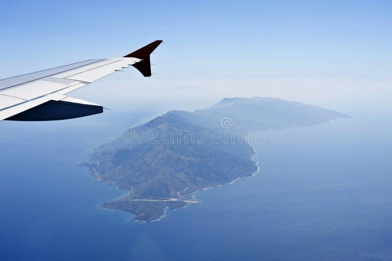 Imagem aérea de Ikaria imagens de stock