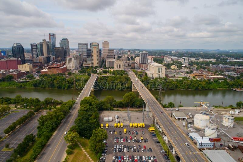 Imagem aérea de Nashville do centro Tennessee imagem de stock royalty free