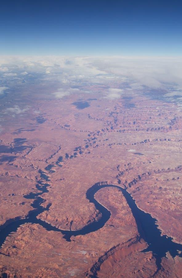 Imagem aérea de Powell do lago fotografia de stock royalty free