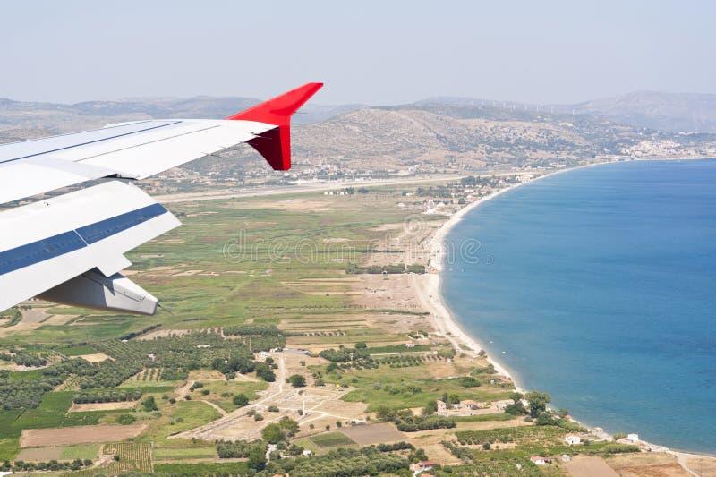 Imagem aérea de Samos imagens de stock