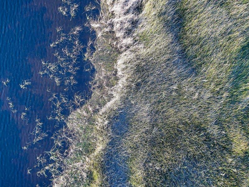 Imagem aérea do lago fotos de stock royalty free