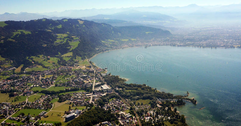 Imagem aérea do lago Constance foto de stock
