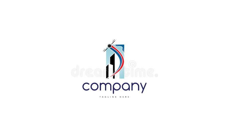 Imagem aérea do logotipo do vetor ilustração stock