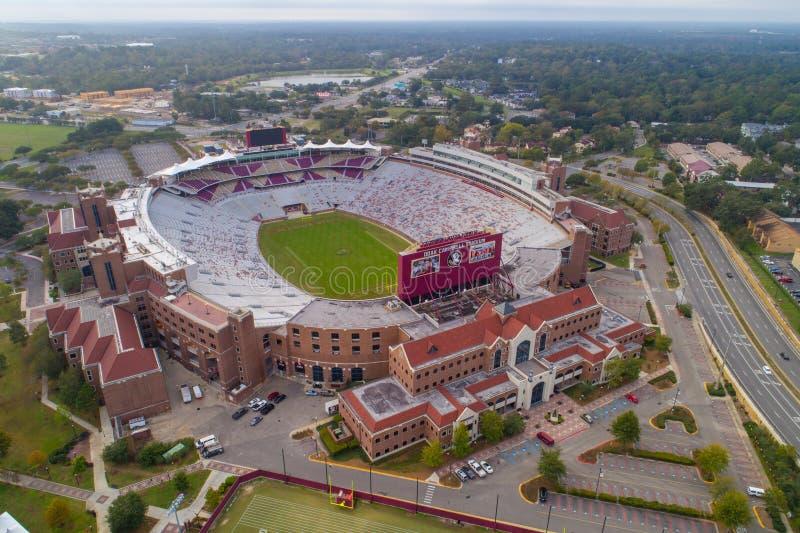 Imagem aérea Doak Campbell Stadium FSU imagens de stock royalty free