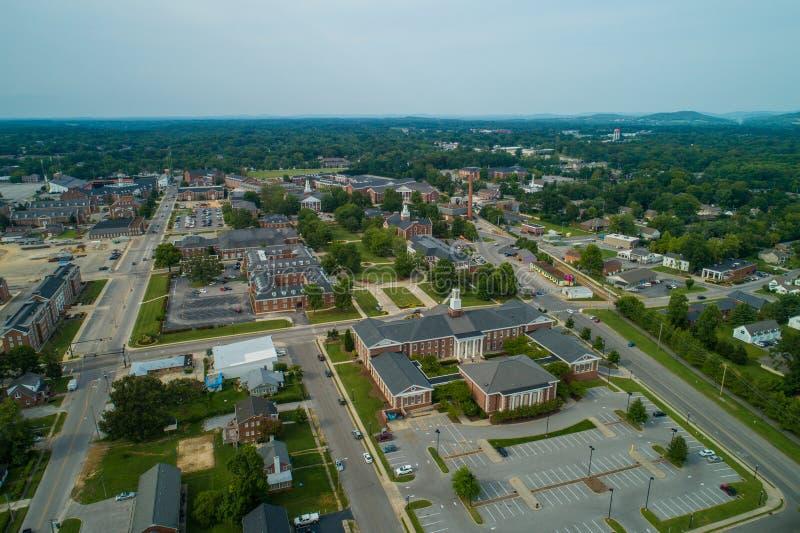 Imagem a?rea Tennessee Tech University fotos de stock royalty free