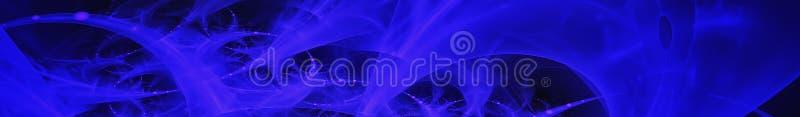 Imagem abstrata azul Vista panor?mica de Gorizontal para o skinali do painel da cozinha 3d rendem fotografia de stock
