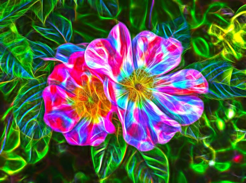 Imagem abstrata bonita da cor do fractal ilustração royalty free