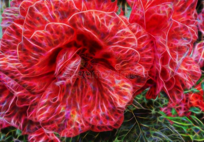 Imagem abstrata bonita da cor do fractal da grande flor ilustração stock