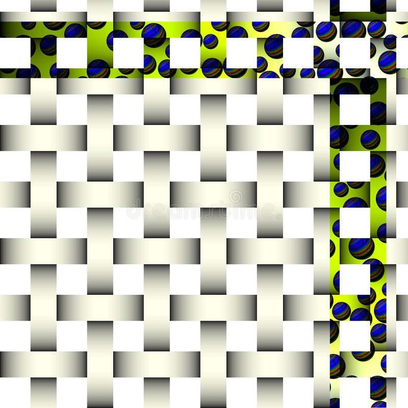 Imagem abstrata branca, projeto misterioso ilustração stock