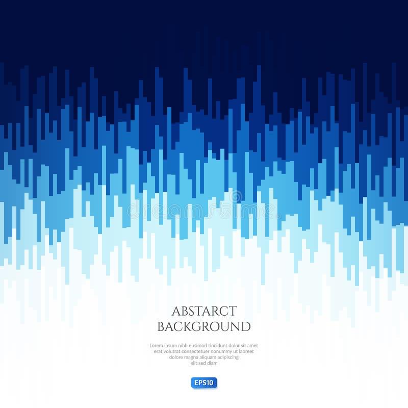 Imagem abstrata com testes padrões geométricos Mude o nível do sinal audio Vibrações sadias ilustração stock