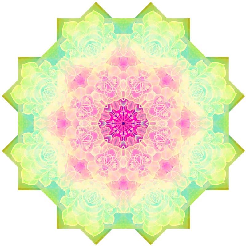 Imagem abstrata da mandala ilustração do vetor
