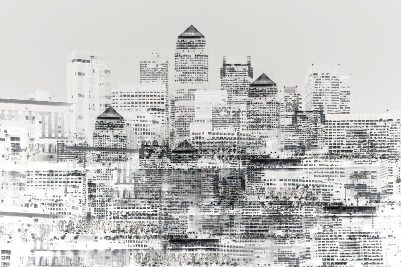 Imagem abstrata da vida urbana moderna ilustração do vetor