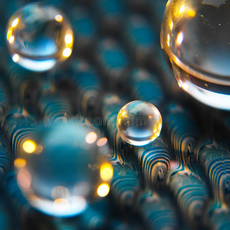 Imagem abstrata das esferas em uma superfície pintada imagem de stock