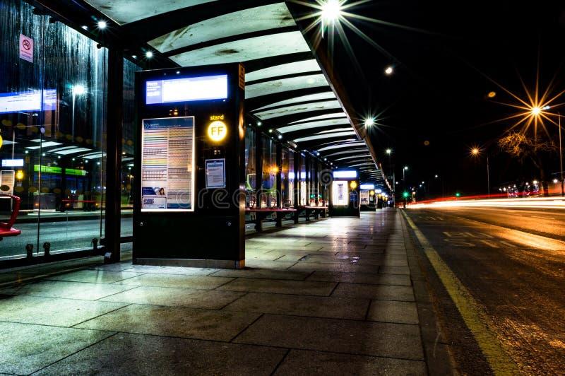 Imagem abstrata de ampolas do colourfull na noite foto de stock royalty free