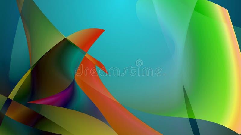 Imagem abstrata de diversas aletas coloridas dos peixes ilustração royalty free