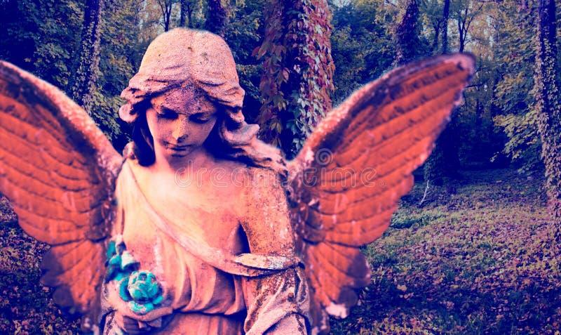 Imagem abstrata de um anjo na perspectiva do outono imagens de stock