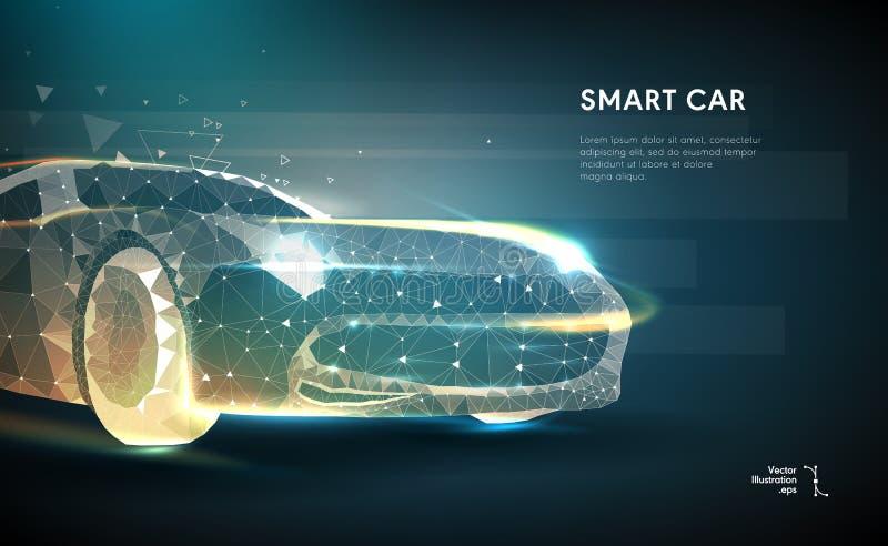 Imagem abstrata de um automóvel ilustração royalty free