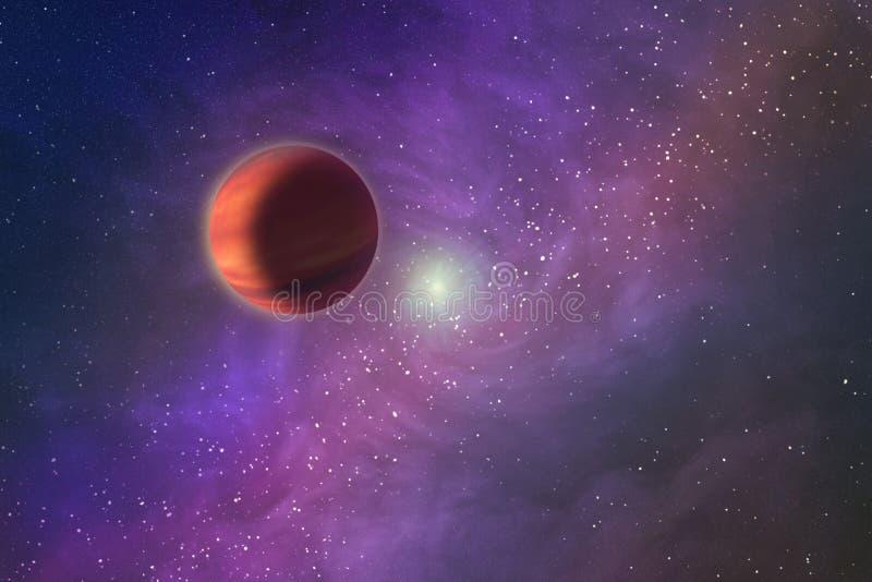 Imagem abstrata de um universo paralelo, vista de um ston desconhecido ilustração stock