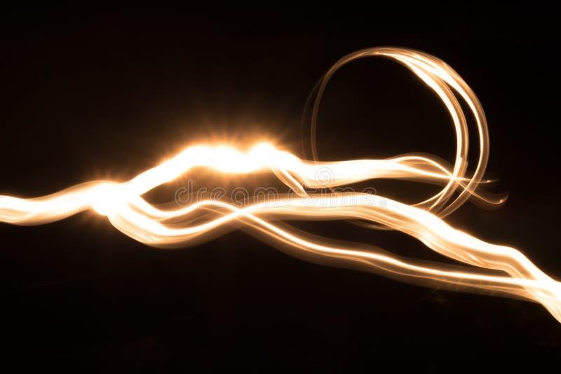 Imagem abstrata de uma fonte luminosa em uma matriz do ` s da câmera imagens de stock royalty free