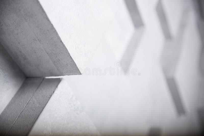 Imagem abstrata do fundo branco dos cubos, foco seletivo ilustração royalty free