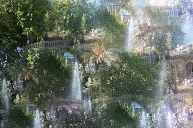Imagem abstrata do parque de Ciutadella imagem de stock