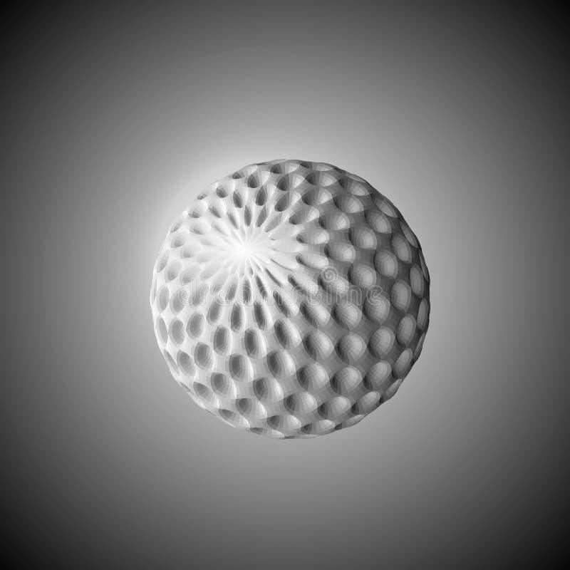 A imagem abstrata do vetor da esfera em um fundo cinzento ilustração do vetor da tecnologia 3d EPS10 ilustração do vetor