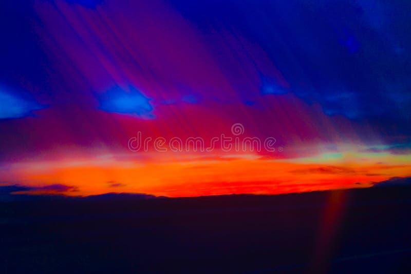 Imagem abstrata e colorida Vermelho, azul, roxo, preto e alaranjado fotografia de stock royalty free