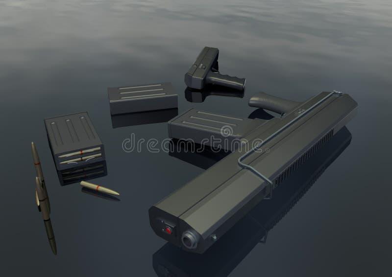 Imagem ajustada 2 da arma ilustração do vetor