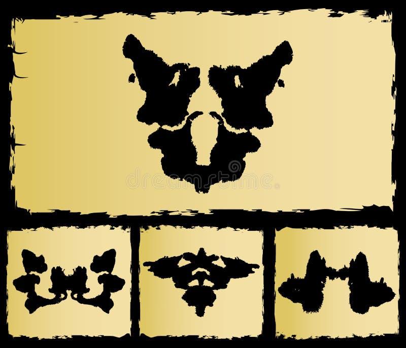 A imagem ajustada do rorschach do teste ilustração royalty free