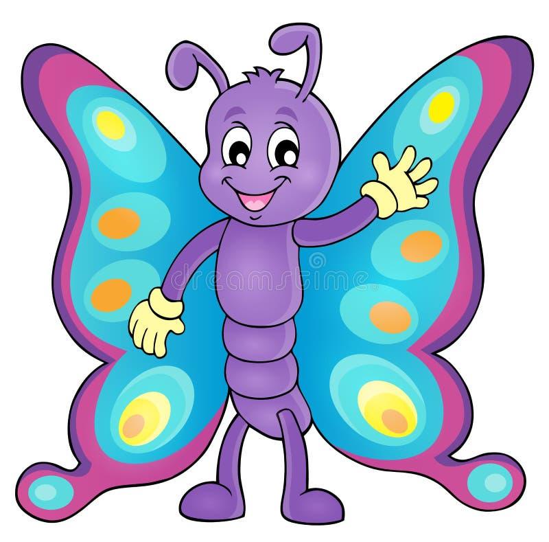 Imagem alegre 1 do tema da borboleta ilustração royalty free