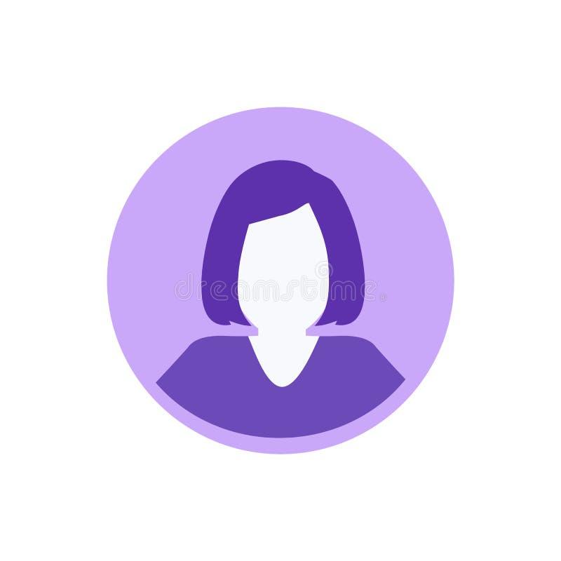 Imagem anônima do perfil do Avatar da mulher da fêmea ilustração stock