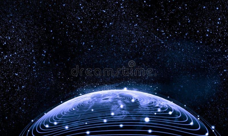 Imagem azul do globo fotos de stock royalty free