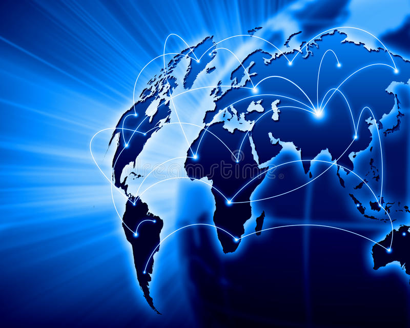 Imagem azul do globo ilustração stock