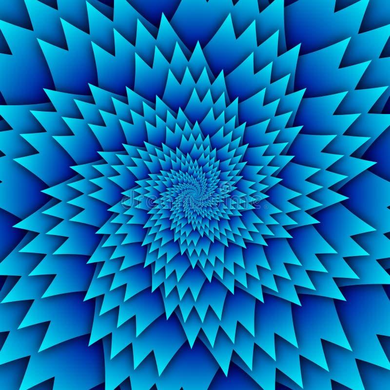 Imagem azul do quadrado do fundo do teste padrão decorativo abstrato da mandala da estrela, teste padrão da imagem da arte da ilu imagens de stock