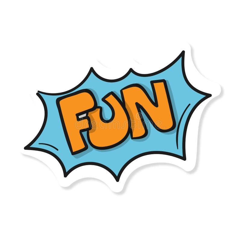 Imagem azul do vetor do divertimento do texto da palavra ilustração stock