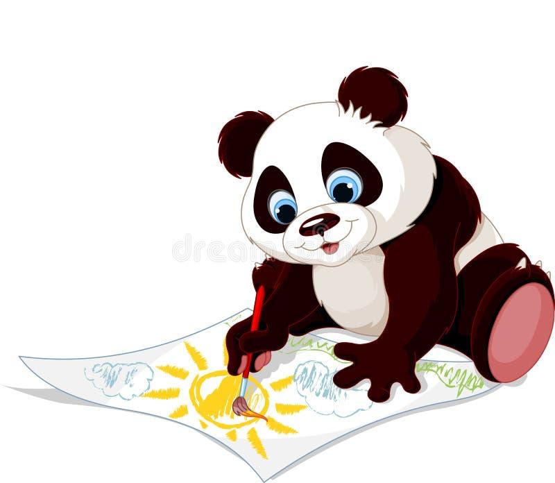 Imagem bonito do desenho da panda ilustração do vetor