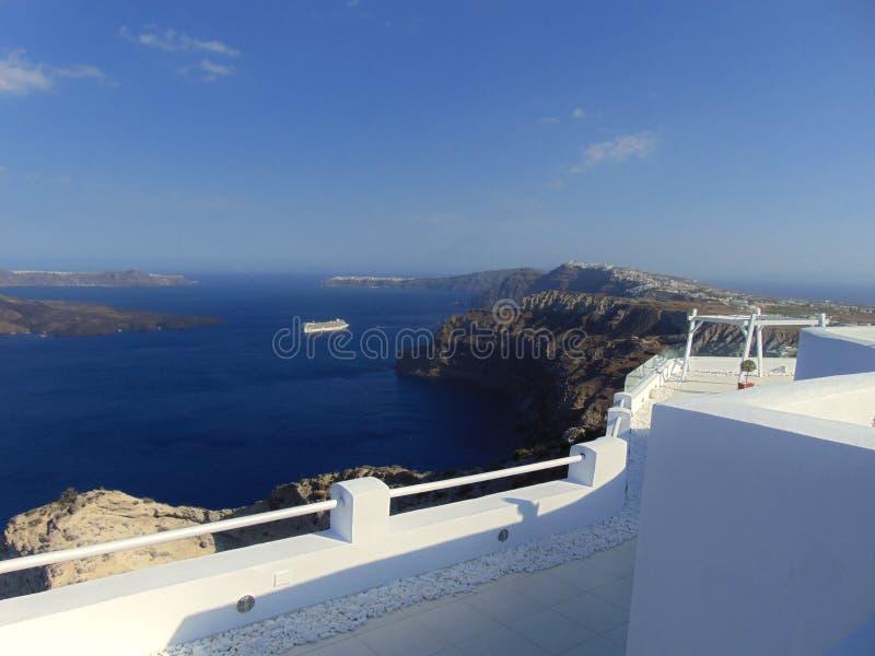 Imagem cênico de Santorini Grécia imagem de stock