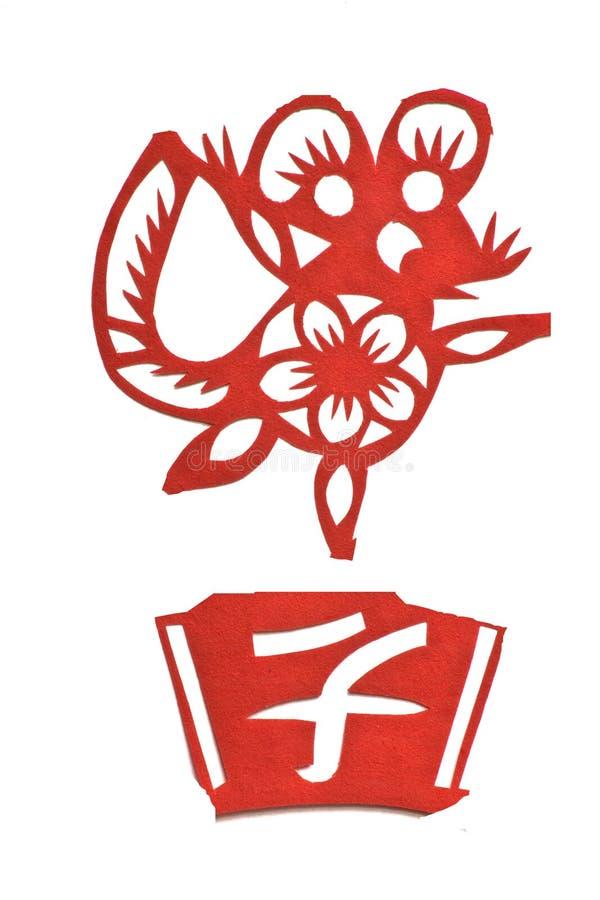 Imagem chinesa do zodíaco do ano do rato ilustração do vetor