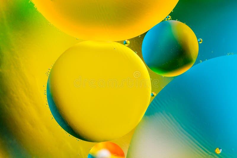 Imagem científica da membrana de pilha Macro acima de substâncias líquidas Sctructure abstrato do átomo da molécula Bolhas da águ imagem de stock