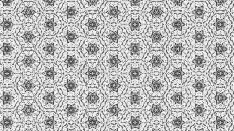 Imagem clara de Grey Floral Ornament Wallpaper Pattern ilustração stock