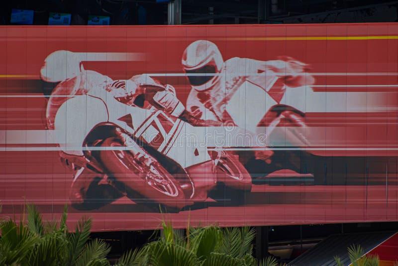 Imagem colorida da raça da motocicleta no estrada internacional 29 de Daytona imagem de stock