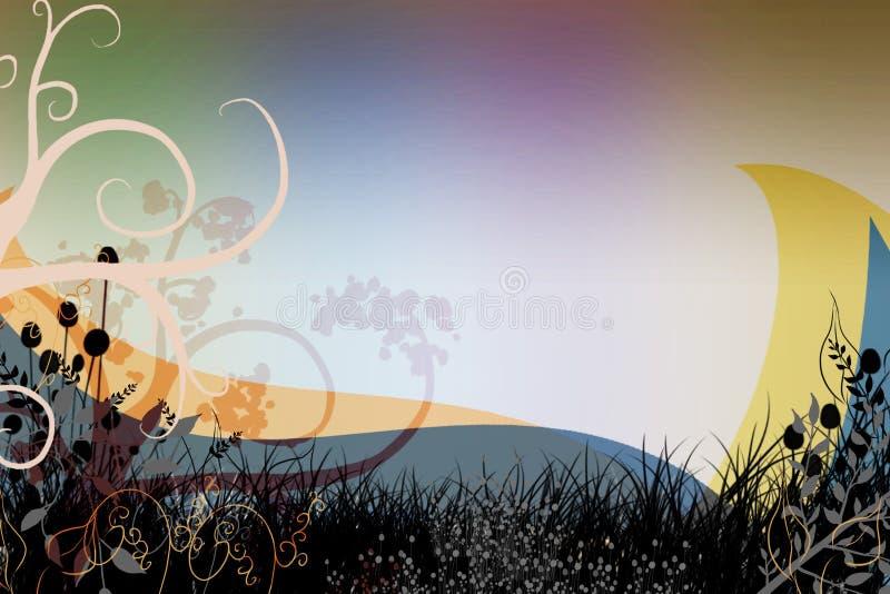Imagem colorida do projeto dos redemoinhos da tampa do fundo ilustração stock