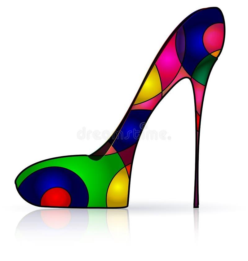 Imagem colorida sumário da sapata ilustração stock