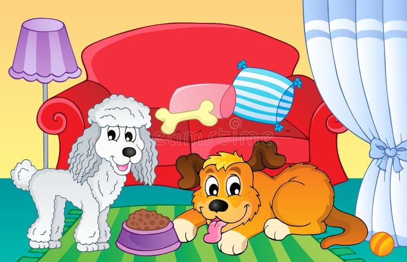 Imagem com assunto 2 do cão ilustração do vetor